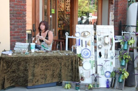 Handmade Jewelry on Market Square, Knoxville, May 2013