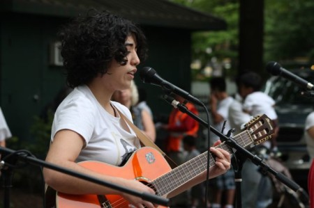 Kukuly performs at Pro-Immigration Reform Rally and March, Krutch Park, Knoxville, April 2013