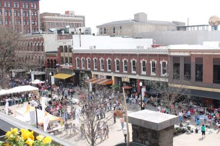 Market Square, Knoxville, April 2013