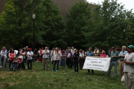 Pro-Immigration Reform Rally and March, Krutch Park, Knoxville, April 2013