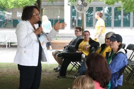 Sharon Draper, Children's Festival of Reading, Knoxville, May 2013