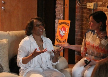 Sharon Draper and Mary Pom Claiborne, Author Reception, Children's Festival of Reading, Knoxville, May 2013