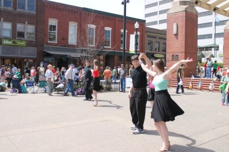 UT Ballroom Dancers, Market Square, Knoxville, April 2013