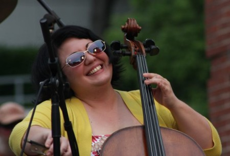 Alexia Pantanizopoulos of Norwegian Wood, Bob Dylan Birthday Bash, Market Square, Knoxville, June 2013