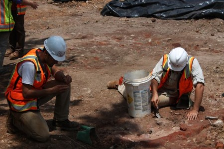 Archaeological Dig, Locust and Summer Place, Knoxville, June 2013