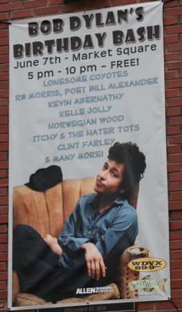 Bob Dylan Birthday Bash Poster, Knoxville, June 2013
