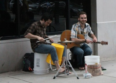 Buskers on Union Avenue, Knoxville, Spring 2013