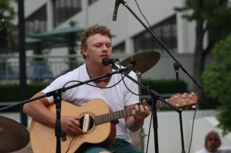 Clint Farley, Bob Dylan Birthday Bash, Market Square, Knoxville, June 2013