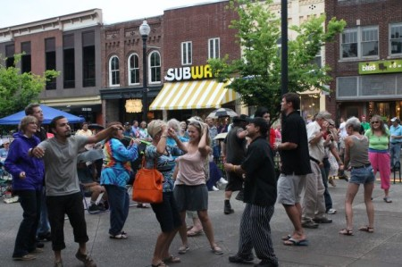 Dancers at the Bob Dylan Birthday Bash, Market Square, Knoxville, June 2013