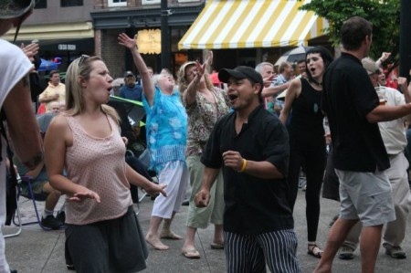 Dancers at the Bob Dylan Birthday , Market Square, Knoxville, June 2013