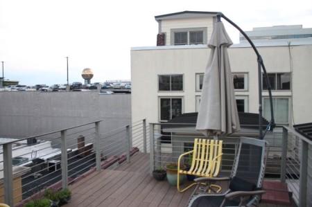 Deck atop 29 Market Square, Unit 301, Knoxville, June 2013