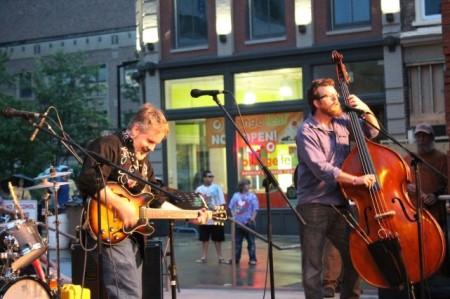 Greg Horne with Daniel Kimbro, Bob Dylan Birthday Bash, Market Square, Knoxville, June 2013