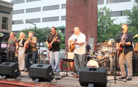 Itchy and the Hater Tots, Bob Dylan Birthday Bash, Market Square, Knoxville, June 2013