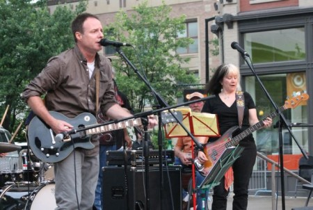Kevin Abernathy with the Tim Lee Three, Bob Dylan Birthday Bash, Market Square, Knoxville, June 2013