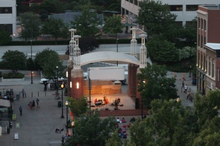 Market Square at Dusk from the Arnstein Building, Seventh Floor, Knoxville, June 2013