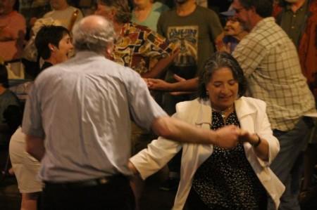 Mayor Rogero Dancing at the Bob Dylan Birthday Bash, Market Square, Knoxville, June 2013