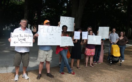 Protest in front of St. John's Episcopal Church, Knoxville, June 16, 2013