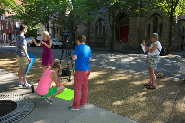 Another Sunday, Another Protest at St. John's Episcopal Church