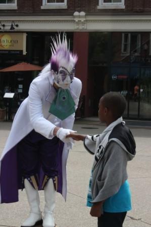 Purple Man Busker, Market Square, Knoxville, Spring 2013