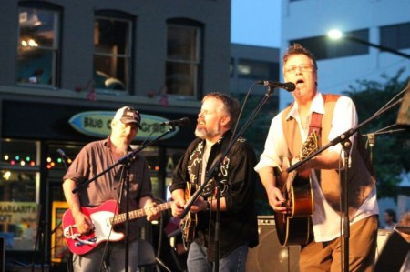 R.B. Morris with Greg Horne and Tim Lee, Bob Dylan Birthday Bash, Market Square, Knoxville, June 2013