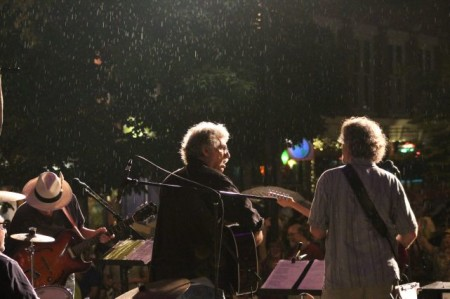 Rains fall with the Lonesome Coyotes, Bob Dylan Birthday Bash, Market Square, Knoxville, June 2013