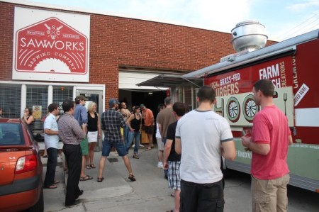 Saw Works and the Hoof Food Truck, Knoxville, May 2013