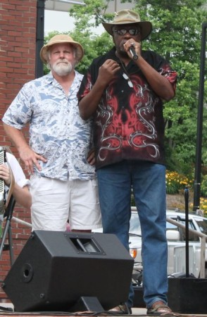 Steve Dupree and Dwight Dwyer, Bob Dylan Birthday Bash, Market Square, Knoxville, June 2013