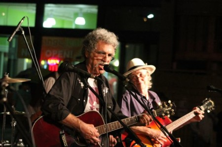 Steve Horton and Maggie Longmire of the Lonesome Coyotes, Bob Dylan Birthday Bash, Market Square, Knoxville, June 2013
