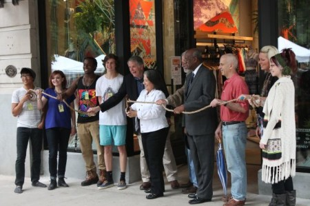 Urban Outfitters Ribbon Cutting, Knoxville, Spring 2013