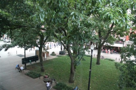 View from 4 Market Square, 3rd Floor, Community Design Center, Knoxville, June 2013