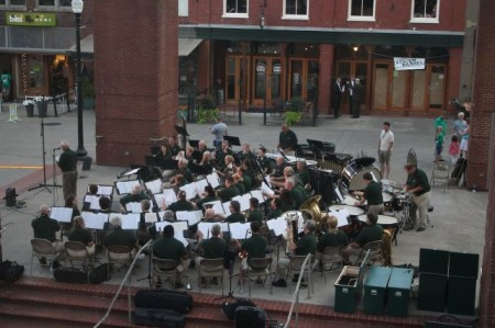 View from Unit 201, 36 Market Square, Community Design Center Tour, Knoxville, June 2013