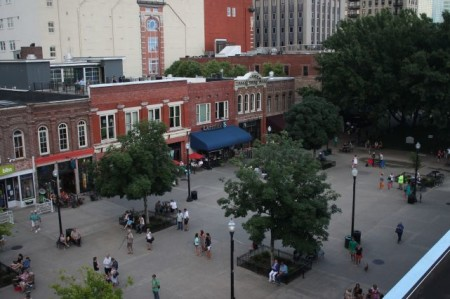View from the deck of 29 Market Square, Unit 301, Knoxville, June 2013