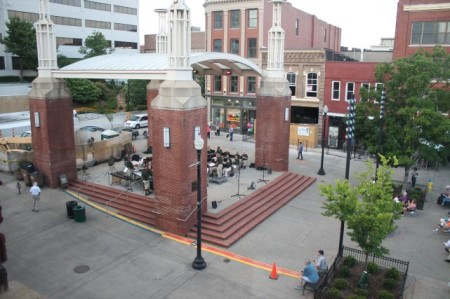 View from the window of 29 Market Square, Unit 301, Knoxville, June 2013