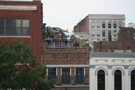 View from Unit 201, 36 Market Square, Community Design Center Tour, Knoxville, June 2013