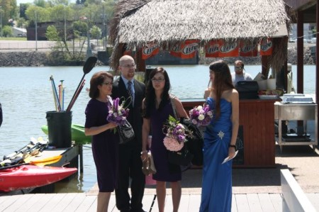Wedding party at Volunteer Landing, Knoxville, Spring 2013