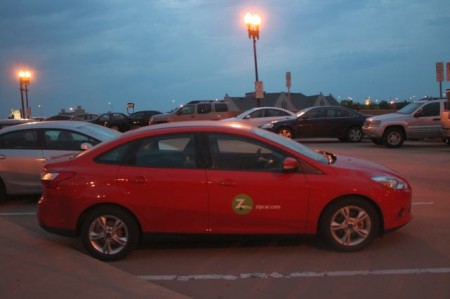 Zip Car, Knoxville, Spring 2013