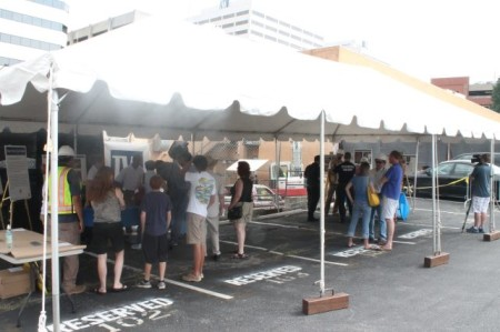 Archaeological Open House, Summer Place and Locust, Knoxville, July 2013