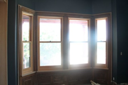 Bay Windows, Mary Boyce Temple House, Hill Avenue, Knoxville, July 2013