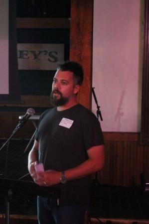 Christopher King, Pecha Kucha, Barley's, Knoxville, July 2013