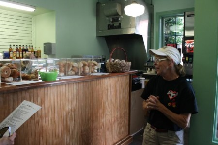 Owner Donna Sullivan, Hot Bagel Company, Market Street and Cumberland, Knoxville, July 2013