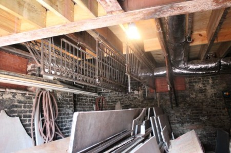 Ironwork in the basement, Mary Boyce Temple House, Hill Avenue, Knoxville, July 2013