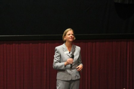 Kim Bumpas at the Visit Knoxville Marketing Launch, Regal Riviera, Knoxville, July 2013