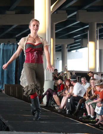 Laura Burgamy Dancing at the Steampunk Carnivale, Knoxville, June 2013