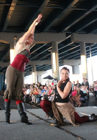 Laura Burgamy and Maria McGuire Dancing at the Steampunk Carnivale, Knoxville, June 2013