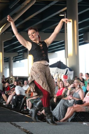 Maria McGuire Dancing at the Steampunk Carnivale, Knoxville, June 2013