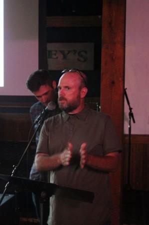 Mark and Michael Nelson, Pecha Kucha, Barley's, Knoxville, July 2013