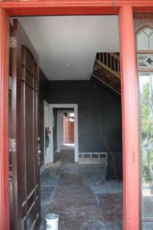 Mary Boyce Temple House, View of Foyer through the front door, Hill Avenue, Knoxville, July 2013