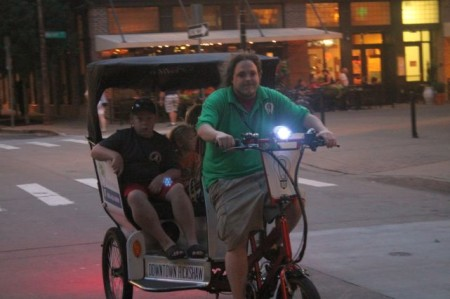 Family in a Rickshaw on a Wednesday Night, Knoxville, July 2013
