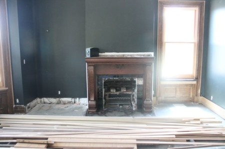 Original Mantel in the Library, Mary Boyce Temple House, Hill Avenue, Knoxville, July 2013