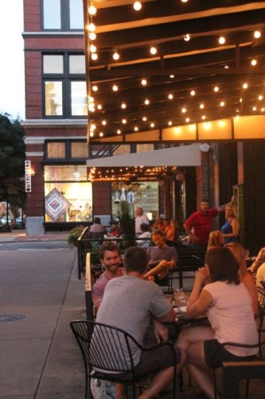 Patios at Shonos in City and Tupelo Honey on a Wednesday Night, Market Square, Knoxville, July 2013